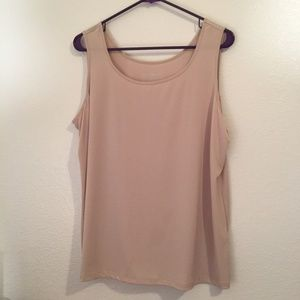 Chicos polyester/spandex tan tank top size 3